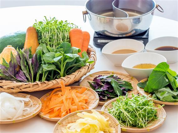 野菜の美味しさを楽しむ。野菜のしゃぶしゃぶ
